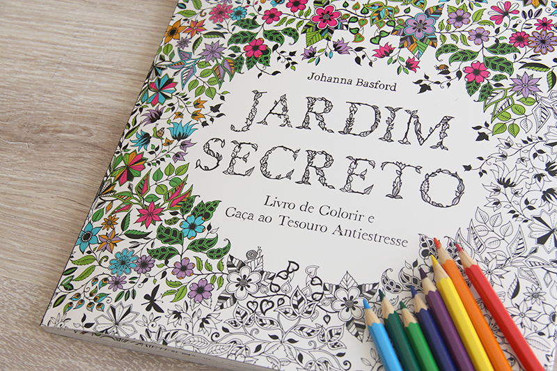 jardim secreto - livro de colorir para adultos